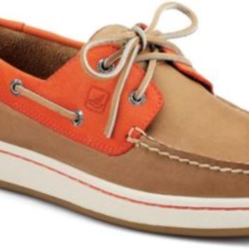 Sperry Top-Sider Sperry Cup 2-Eye Boat Sneaker Tan/Orange, Size 10.5M  Men's