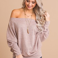 Beloved Beauty Off The Shoulder Top (Blush)