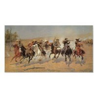 A Dash For Timber by Remington, Vintage Cowboys Posters