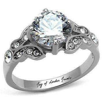 A Perfect 2CT Round Cut Russian Lab Diamond Promise Engagement Anniversary Wedding Ring