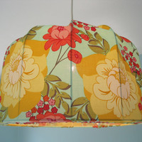 Lampshade Pendant lamp Flower power Retro by Missremaidsweden