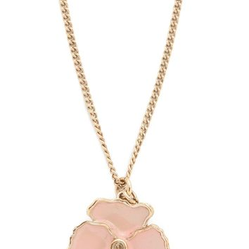 Previously Owned Chanel Enamel Flower Necklace