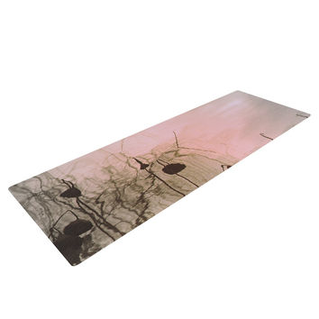 "Marianna Tankelevich ""Lotus Dream"" Flower Pink Yoga Mat"
