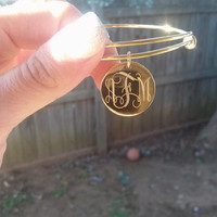 Very cute stylish and affordable monogrammed bracelet