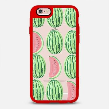 iPhone Case With Interchangeable Back Plates by Casetify | Watermelon Print Design by Kendra (iPhone 6, 6s, 6 Plus, 6s Plus, 7)