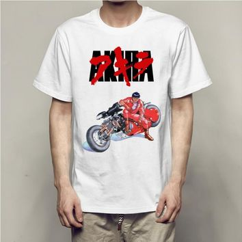 MANNAN  t shirt Men Cotton T-shirt off white Akira car, Harajuku Short Men TShirt,Self-Highness Plus Size