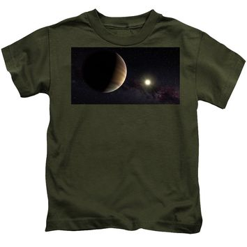 Solar System Watercolor Series No 1a - Kids T-Shirt