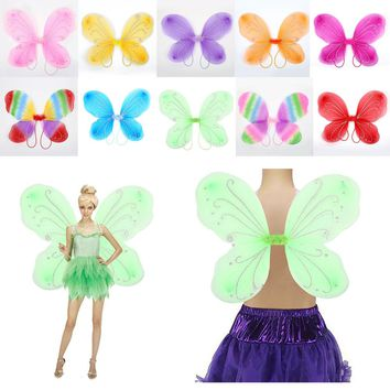 10 Color 42*31cm Elf Fairy Wing Butterfly Wings Dress Up Decor Supplies Gift Costume Girls Christmas Dress Up Halloween Supplie