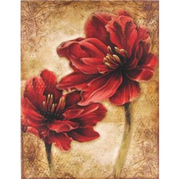 Red Distressed Floral Canvas | Shop Hobby Lobby