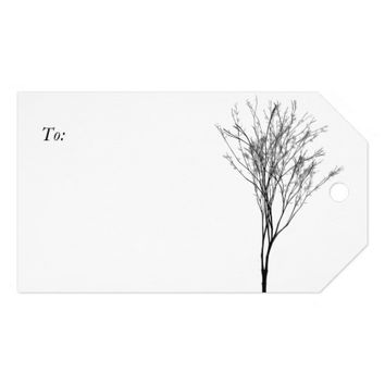 Elegant Black and White Tree Art Pack Of Gift Tags