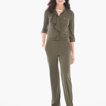 Chico's Ruffled Utility Jumpsuit
