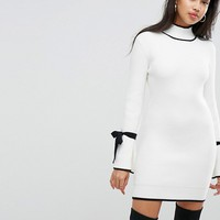 Morgan Tie Sleeve Dress at asos.com