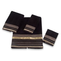 Avanti Geneva Bath Towel in Black