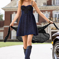 Lace-trim Flared Dress - Victoria's Secret