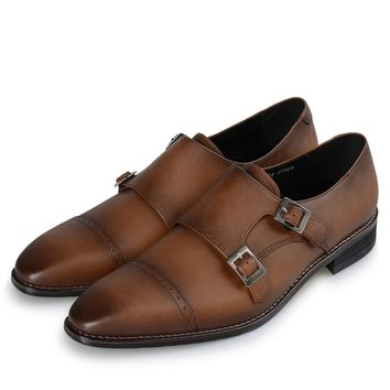Blueprint Couture | High Quality Straight Tip Double Monk Strap Shoes
