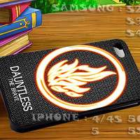 Divergent Dauntless The Brave - For iphone 4 iphone 5 samsung galaxy s4 / s3 / s2 Case Or Cover Phone.