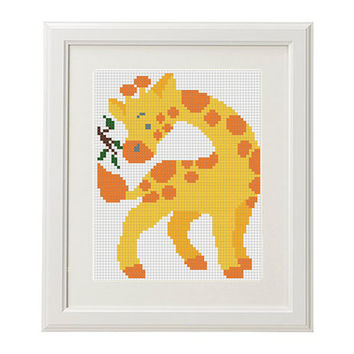 Giraffe nursery decor Cross stitch pattern animal baby animal cross stitch pattern  Cute cross stitch pattern Easy cross stitch pattern