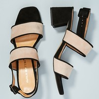Paolo Mattei Colorblocked Heeled Sandals