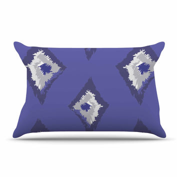 "Alison Coxon ""Denim Ikat"" Blue Gray Pillow Sham"