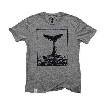 Tale of the Whale: Tri-Blend Short Sleeve T-Shirt in Tri Athletic Grey