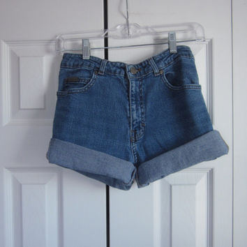 Vintage Calvin Klein Shorts Cut Off Denim Shorts High Waisted Shorts Womens 8 Jean Shorts 90s Grunge High Waist Denim Shorts GS105