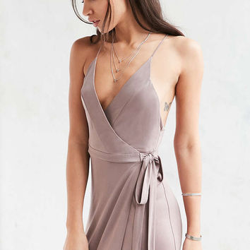 Silence + Noise Rock Ridge Maxi Wrap Dress - Urban Outfitters