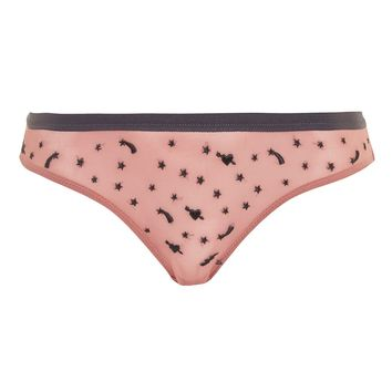 Space Mesh Mini Knickers | Topshop