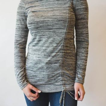 Drawstring Tunic - Grey