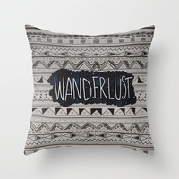 WANDERLUST Throw Pillow by Vasare Nar | Society6
