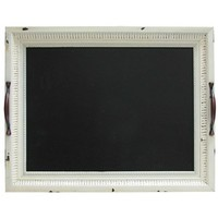 Vintage White Tray Art with Chalkboard | Shop Hobby Lobby