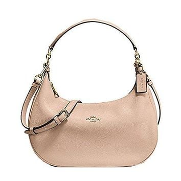 Coach Pebble Leather Harley East West Hobo in MIDNIGHT, F38250 IMMID