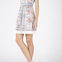 Cambria Printed Halter Dress - White