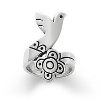 Bird and Flower Ring   James Avery