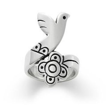 Bird and Flower Ring | James Avery