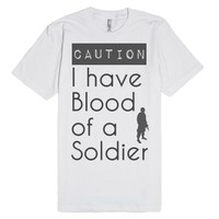 Soldier's Blood-Unisex White T-Shirt