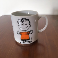 """Vintage 1952 Peanuts Mug - Linus """"To Know Me is to Love Me"""" / Another Determined Production / United Feature Syndicate/ Charlie Brown Snoopy"""