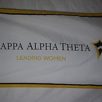 Kappa Alpha Theta College Sorority Official Licensed Flag 3x5