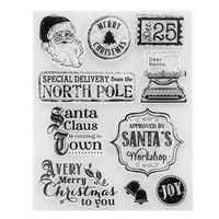 2018 New Christmas Silicone Stamps For Scrapbooking Santa Claus Transparent Clear Stamps For Photo Album DIY Craft Stamp
