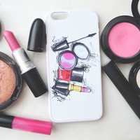 Makeup Iphone Case, Iphone 6 case , Iphone 5 case, Iphone 4 case, custom iphone cover