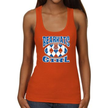 Sam Houston State Bearkats Ladies Argyle Girl Junior's Ribbed Tank Top - Orange