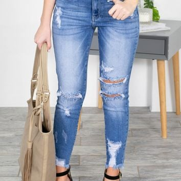 Distressed Trending Denim Skinny Jeans