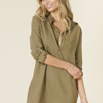 Rhythm - Laguna Dress | Olive