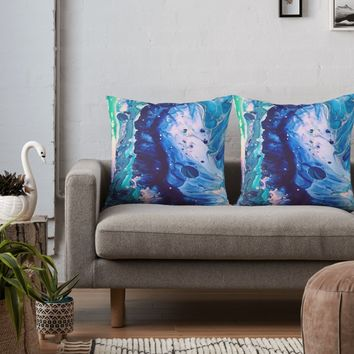 'aquatic meditation' Throw Pillow by DuckyB
