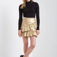 Row Ruffle Mini Skirt