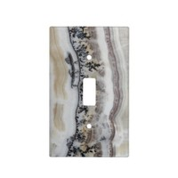 Dendritic Agate Light Switch Cover
