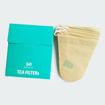 50Pcs/Set  Hanging Teabags Scented Tea Bags With String Seal Filter Paper for Herb Loose Tea Bolsas