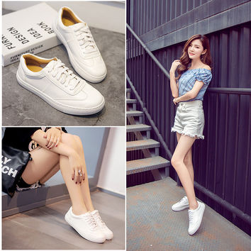 Stylish Hot Sale Comfort Hot Deal On Sale Star Leather Shoes Rubber Thick Crust Casual Sneakers [8564302535]