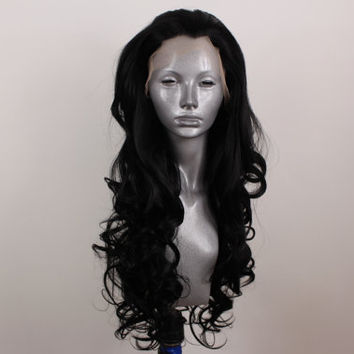 Alexis- Pure Black Lacefront wig