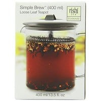Rishi Tea Simple Brew Loose Leaf Teapot, 13.5 Ounces (400ml)