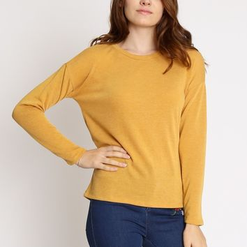 On The Road Top In Mustard | Ruche